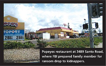 Popeyes Chicken and Biscuits on Santo Road where FBI agents prepared Ivette and Sergio to carry the ransom money.