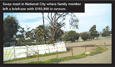 National City swap meet where Sergio left ransom money.