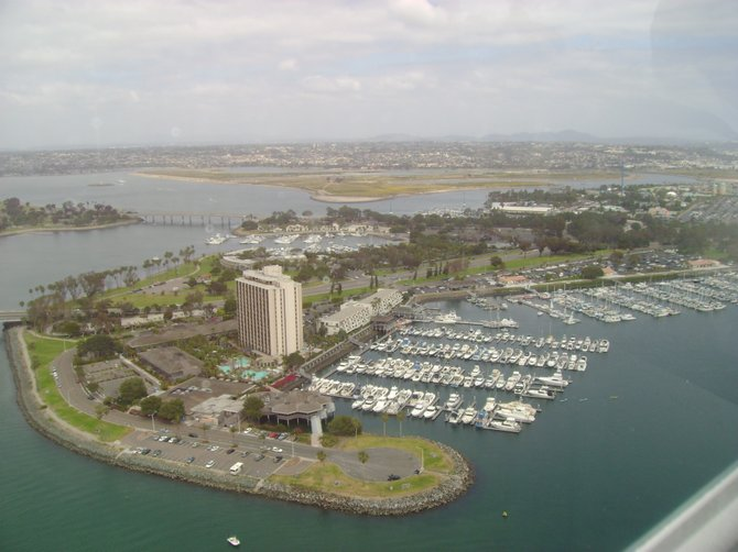 A bird's eye view of San Diego