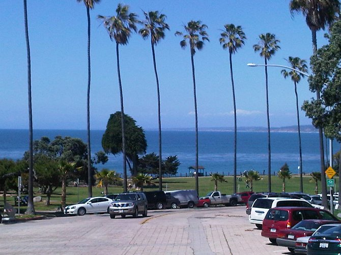 Entering the beautiful La Jolla shore