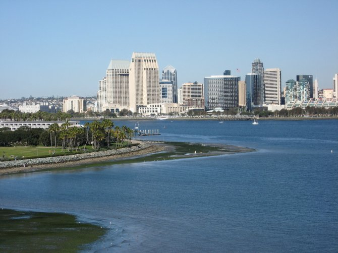 I took this picture as my father drove over the Coronado Bridge.