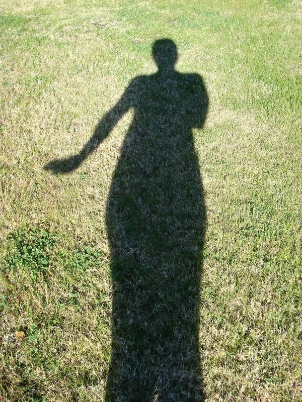 I took this photo of my shadow on a hot day in Borrego Springs while on vacation.