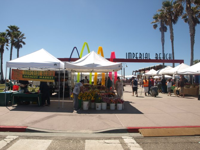 The hottest event to hit Imperial beach well aside from the US open sandcastle competition is Friday's farmers market on the Pier Plaza