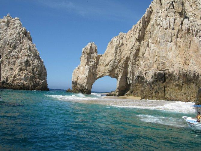 El Arco de Cabo San Lucas.  Where the Sea of Cortez meets the Pacific Ocean.