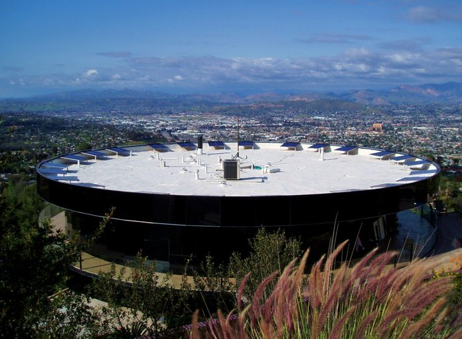 A rooftop view of the Rotating House near the top of Mt. Helix.