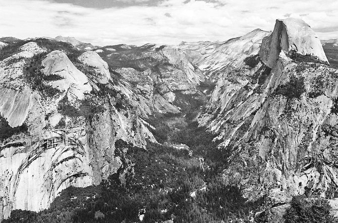 """No temple made with hands can compare to Yosemite.  Every rock in its walls seems to glow with life."" -- John Muir."