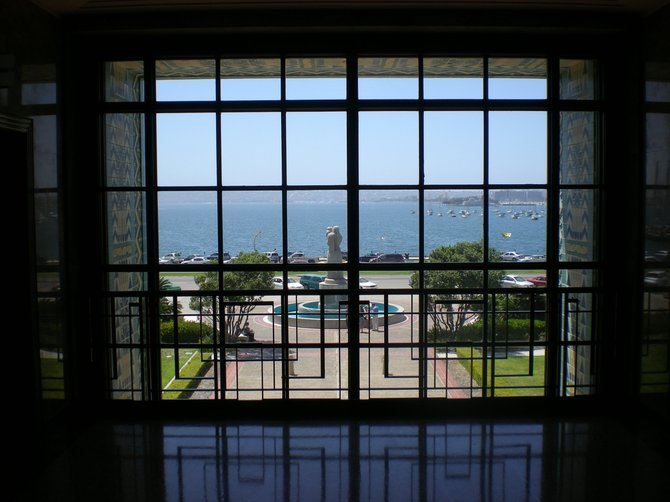This photo was taken from the second floor of the County Administration building on Pacific Highway on May 2nd.