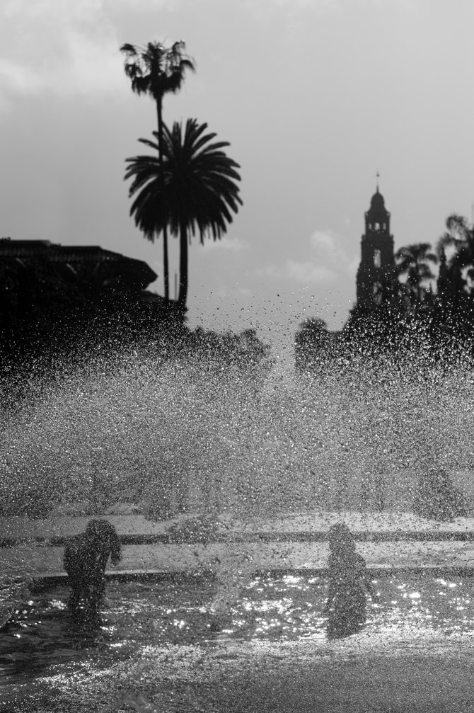 Kids having great time at Balboa Park