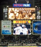 The scoreboard at Petco Park says it all after the Padres beat the Giants on May 17th, 2010