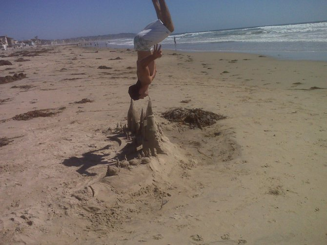 Flipping out on Pacific Beach