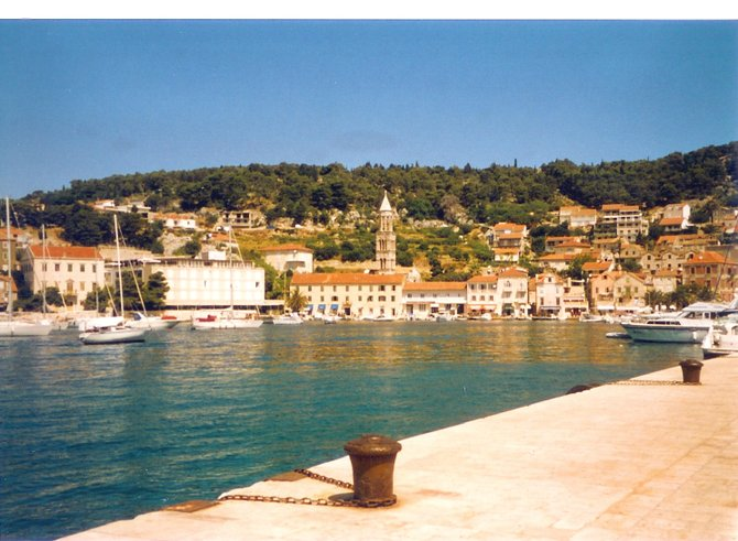 The small port of Stari Grad, Croatia