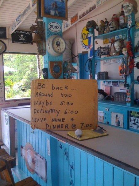 The way business is run on the islands! (Jost Van Dyke, British Virgin Islands)