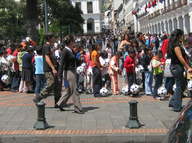 Quito, Ecuador-preparing for the World Cup?
