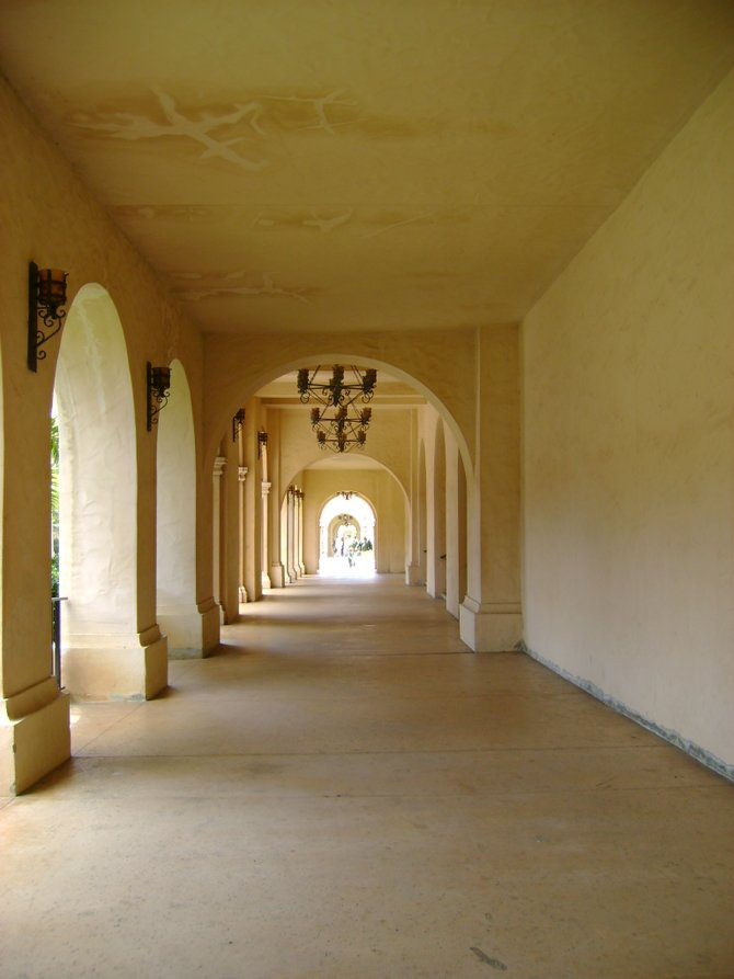 The hallway in Balboa Park