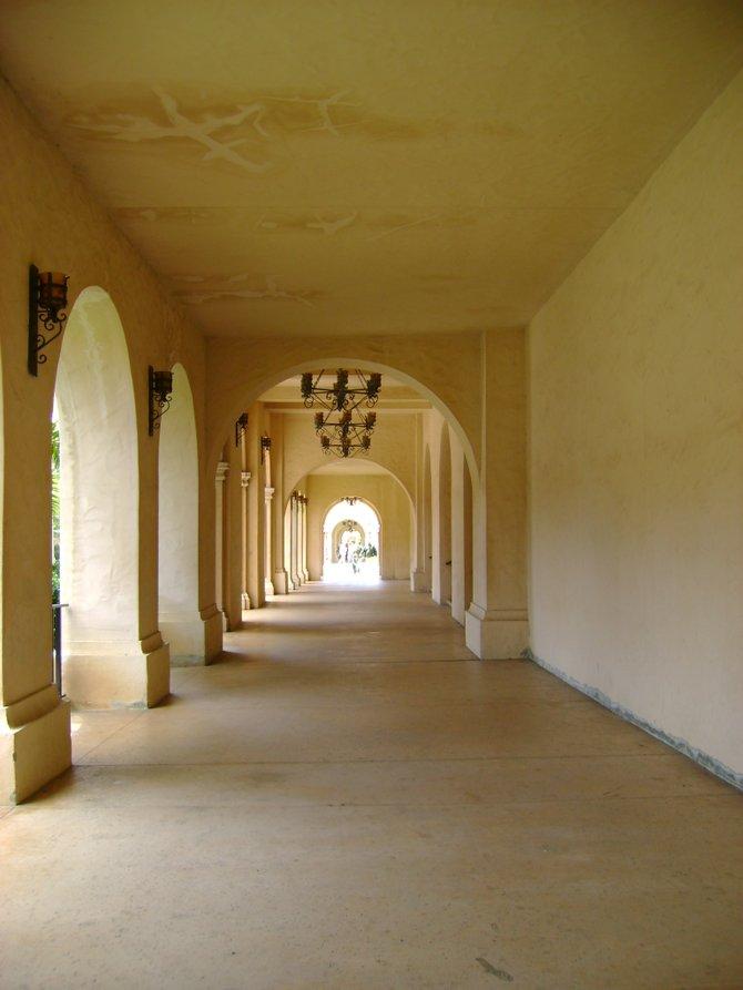 The hallway in Balboa Park
