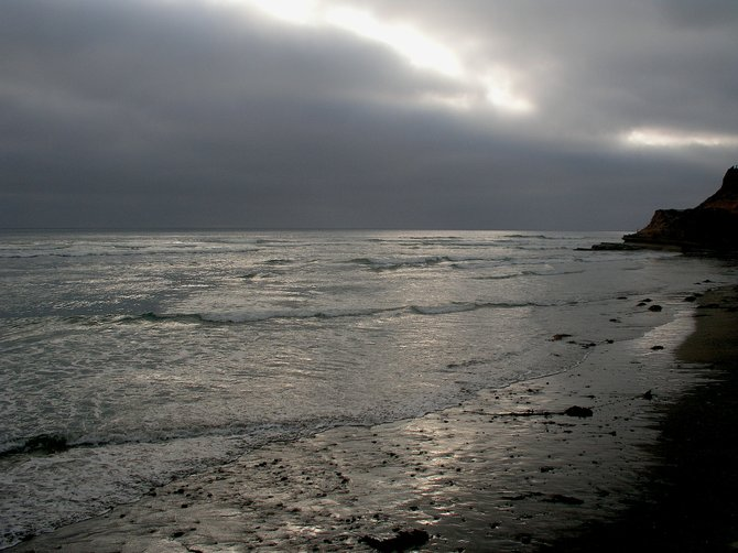 June Gloom Sunset, Dog Beach, Del Mar