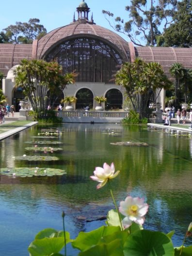 Botanical Building with the Lily Pond at Balboa Park.
