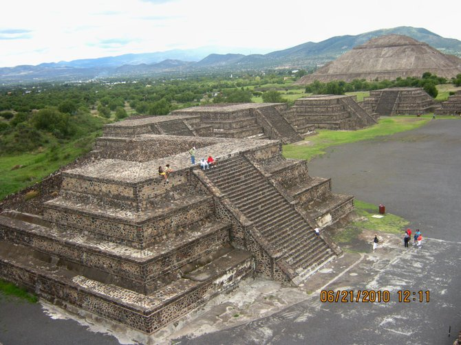 The amazing pyramids at Teotihuican, Mexico. The Sun Pyramid is in the background.