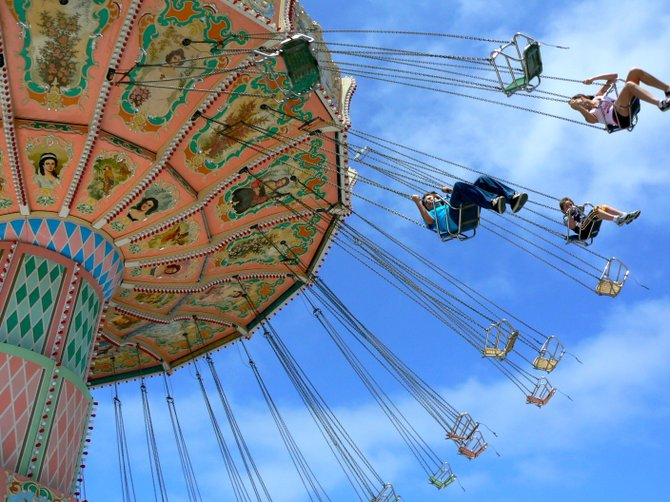 Gravity, schmavity! San Diego County Fair, Del Mar, CA
