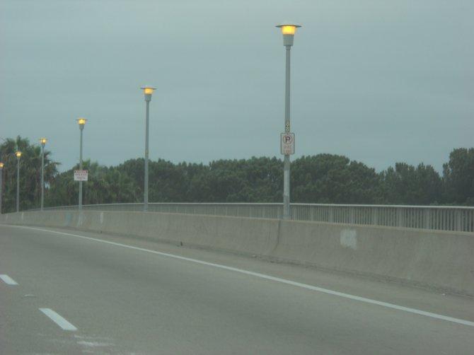 Foggy Ingraham Street bridge on a 4th of July weekend.