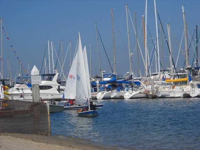 Sailing adventures from Southwestern Yacht Club dock on a recent sunny afternoon.