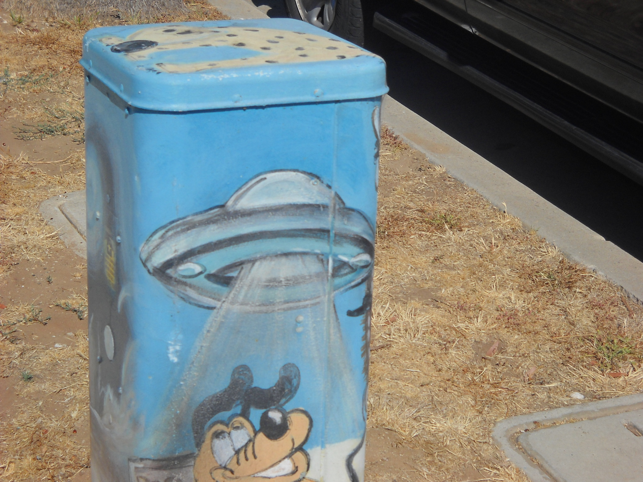 West Pt. Loma Blvd. utility box art..other-worldly!