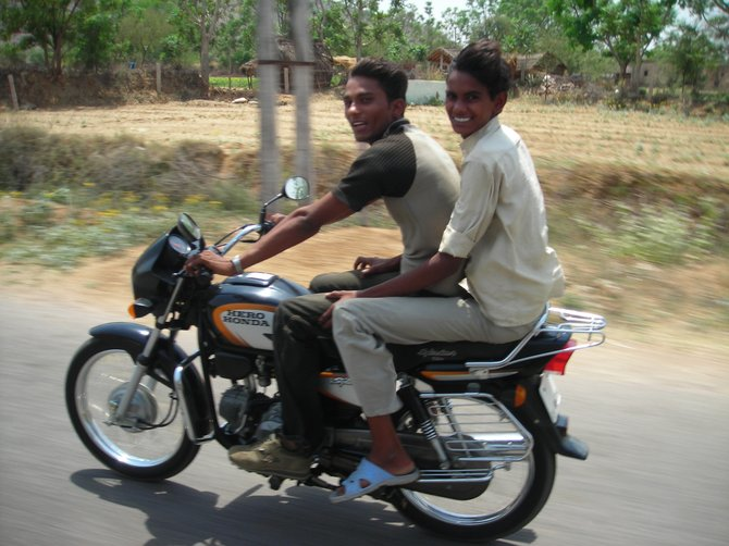 I took this photo while driving on a highway in Rajasthan.