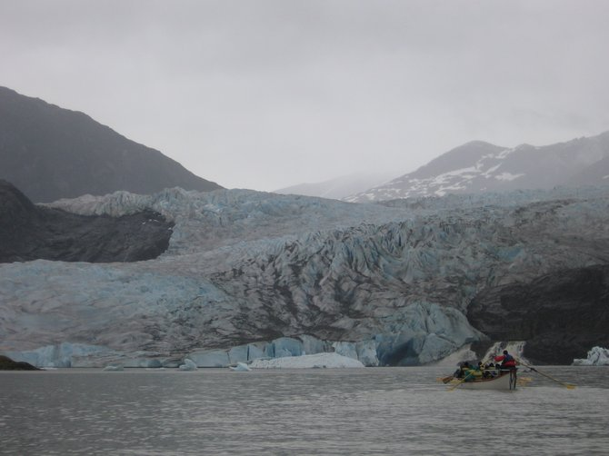 Canoe ride up to Mendenhall Glacier in Juneau, Alaska on July 3rd, 2010