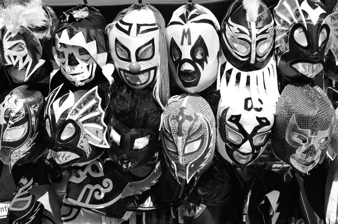 Luchador masks for sale in Old Town