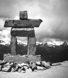 The Inukshuk is a directional marker or milestone and is usually used to direct hikers ...