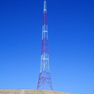 One of the two KOGO radio towers at Emerald Hills.