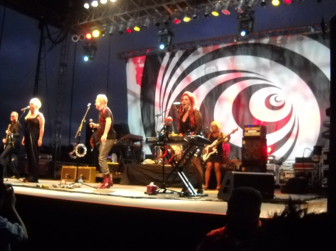 CAMPY good times with the B-52's at the Del Mar Fairgrounds.