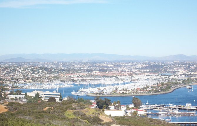 Breathtaking view of San Diego taken from the Cabrillo National Monument