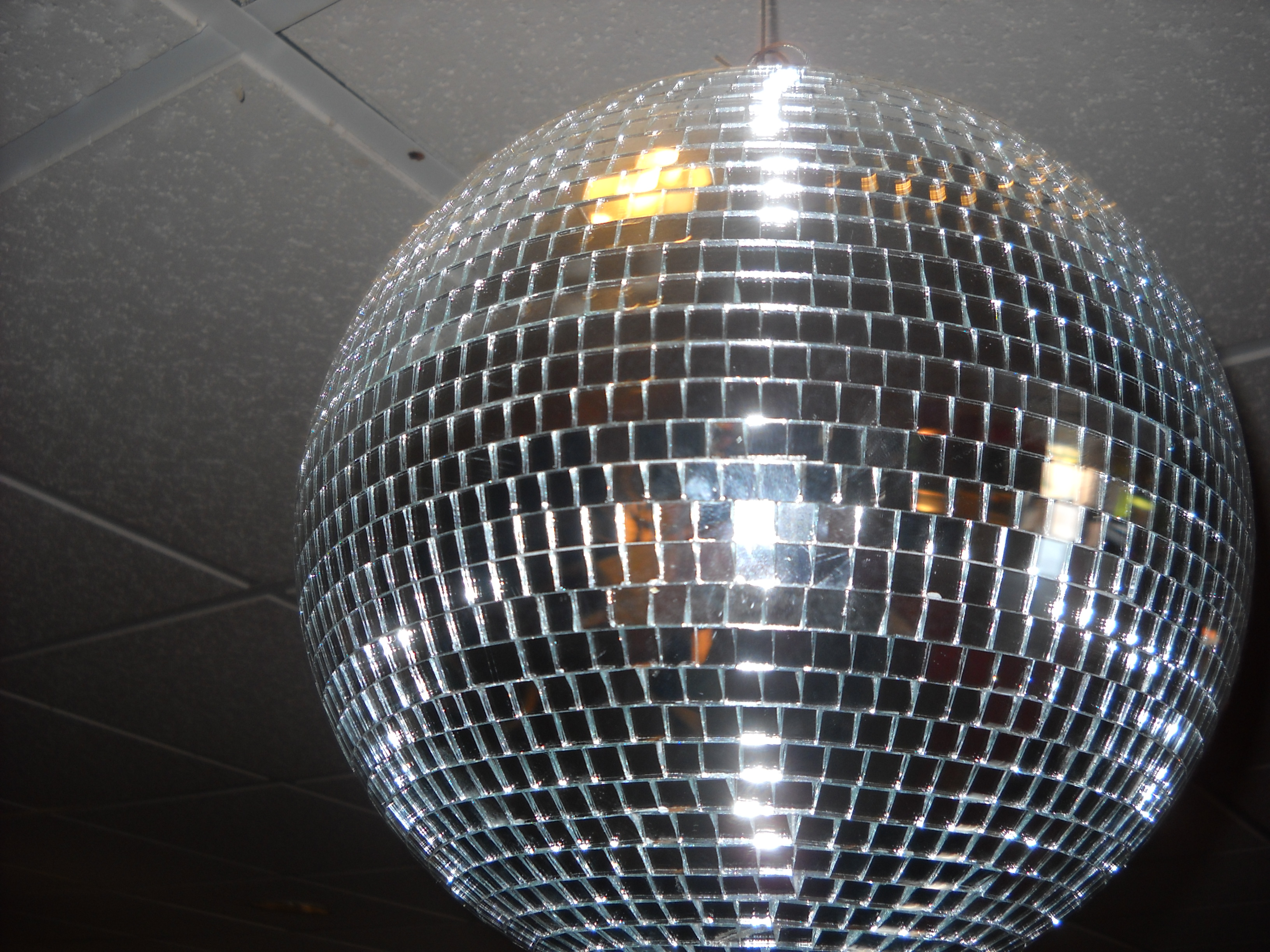 Leftover disco ball from the Sex & The City II movie promotion at Ultra Star Hazard Center Theater.