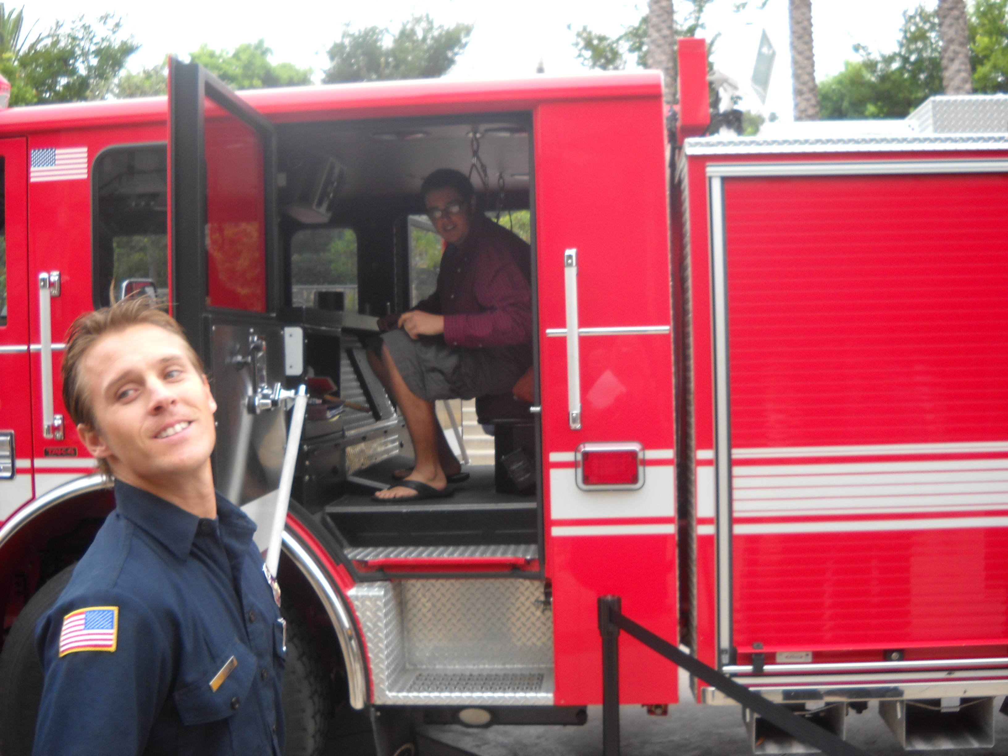 Fire Truck visits the Rock Church parking lot for some holy photo ops!