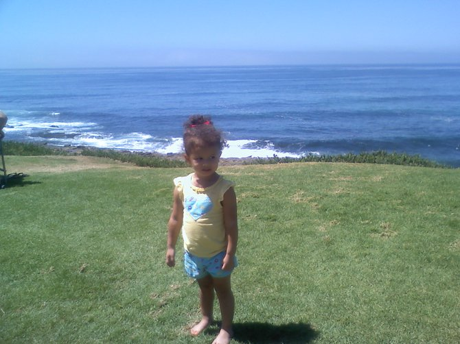 spending the day at la jolla cove!  what we like to do while daddy is at work (military)   ava- 2 1/2 years old