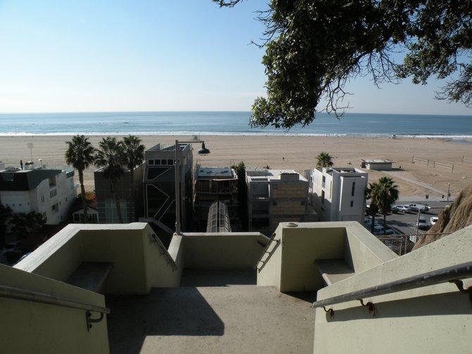 Beach next to the Santa Monica Pier.