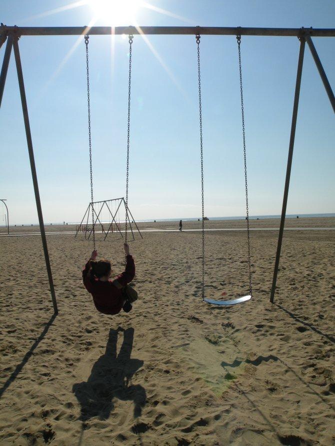 Park on Santa Monica Beach