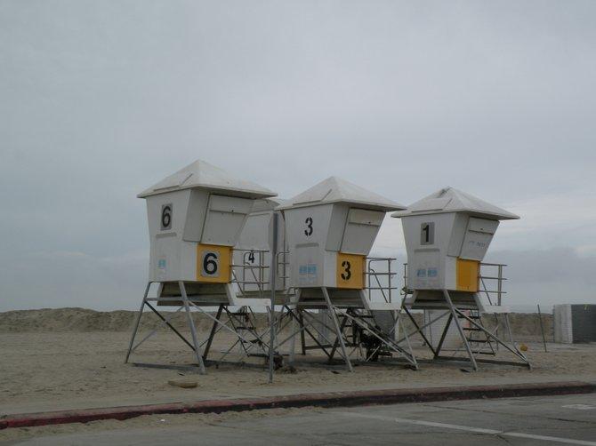 Remodeling Ocean Beach, and all of the lifeguard towers were next to each other.