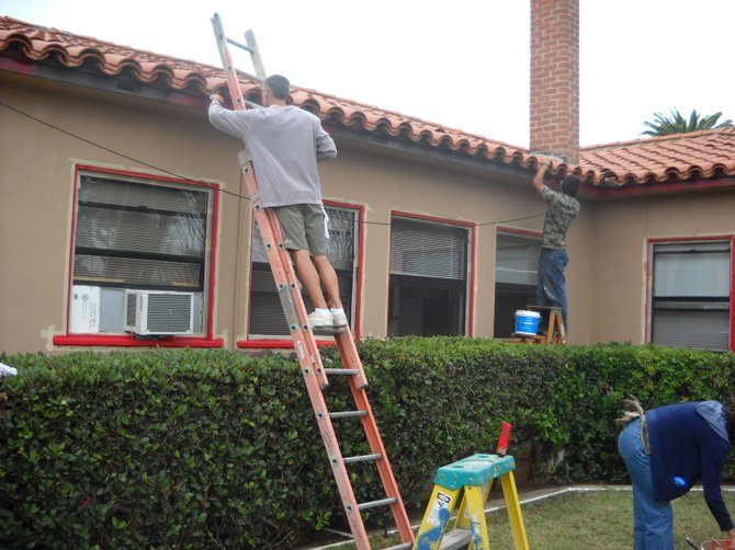 "The Rock Church ""Do Something"" volunteers fixing up Point Loma Fire Station #22."