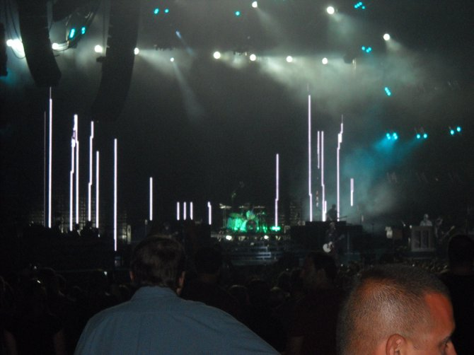 Lasers, strobe lights, cannon blasts, fireworks, awesome visuals-all at the Green Day concert at Cricket Wireless.