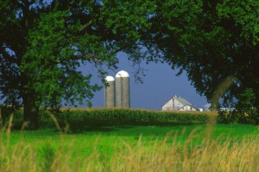A typical farm scene in Iowa