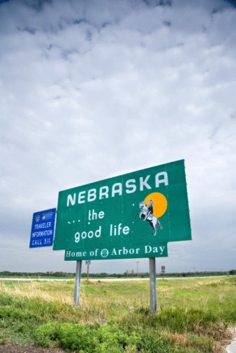 Sign at Nebraska state line