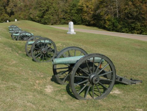 Union artillery battery at Vicksburg