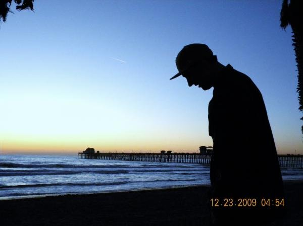 My boyfriend and the Oceanside pier.