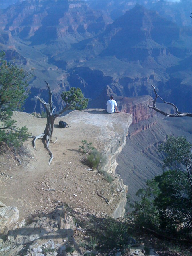 Sitting at the edge of the world on the first day at the Grand Canyon. Unreal!