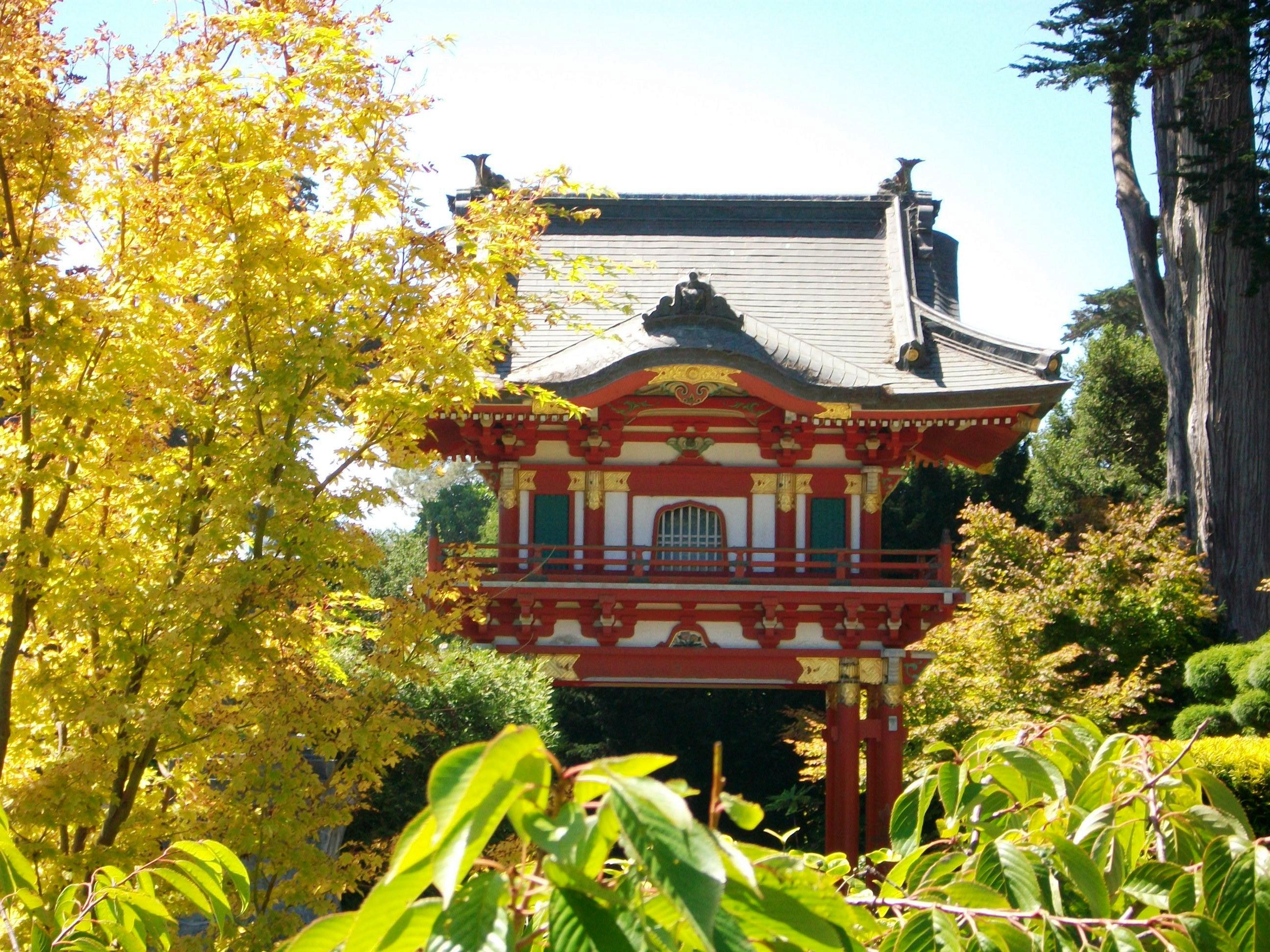 A pagoda inside the Japanese tea garden in San Francisco