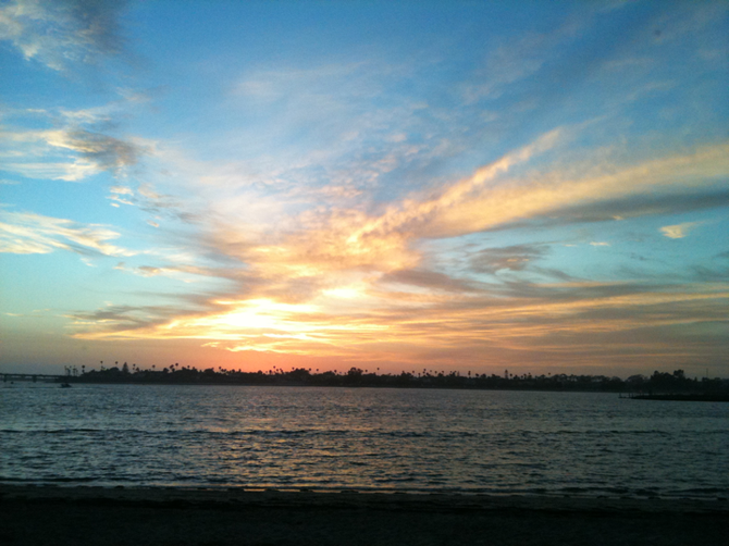 looking west from fiesta island