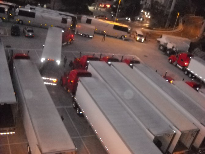 Takes a lot of manpower, hauling trucks & tour buses to put on a Muse show at Viejas Arena!