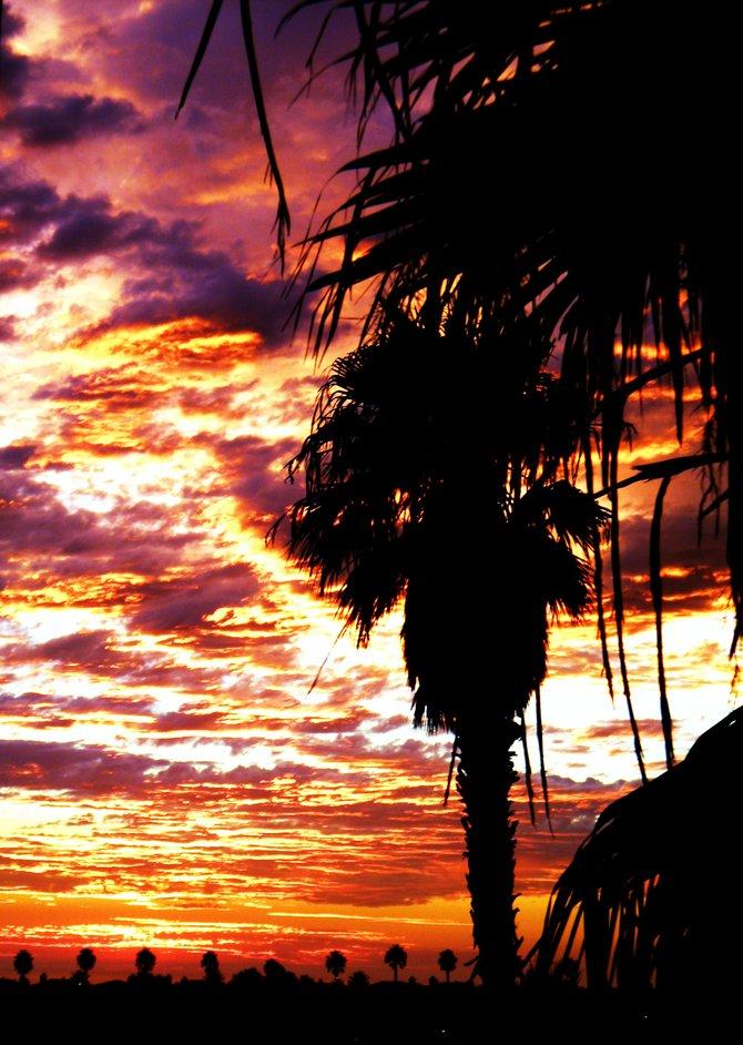 After random thunderstorm in Carlsbad, CA. Hotel view.